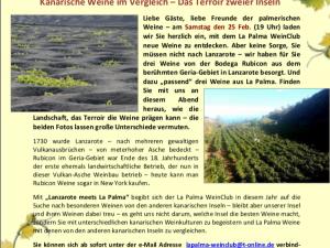 Degustación de los vinos Rubicón para nuestros amigos alemanes en La Palma Wein Club
